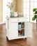 Stainless Steel Top Portable Kitchen Cart/Island in White - CROSLEY-KF30022EWH