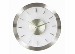 Stainless Steel Wall Clock with Clear Face - 1729