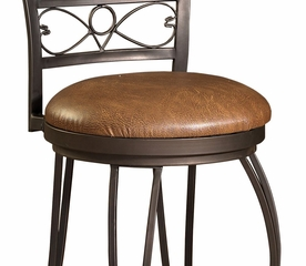 Stamped Back Bar Stool - Bronze with Muted Copper - Powell Furniture - 222-847