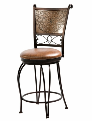 Stamped Back Counter Stool - Bronze with Muted Copper - Powell Furniture - 222-918