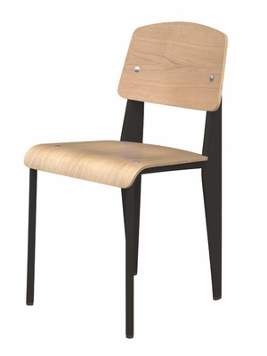 Standard Chair in Black / Natural Oak - DC-595-BLACK