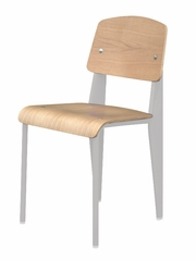 Standard Chair in White / Natural Oak - DC-595-WHITE