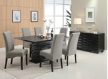 Stanton 8-Piece Dining Room Furniture Set in Rich Black / Gray - Coaster - 102061-62-65-DSET