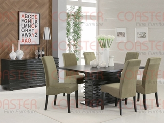Stanton 8-Piece Dining Room Furniture Set in Rich Black / Green - Coaster - 102061-63-65-DSET