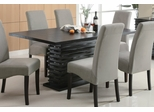 Stanton Dining Table in Rich Black - Coaster - 102061