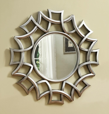 Starburst Wall Mirror in Silver - 901733