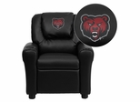 State University of New York at Potsdam Bears Embroidered Black Vinyl Kids Recliner, Cup Holder & Headrest - DG-ULT-KID-BK-41074-EMB-GG