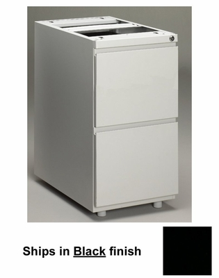 Stationary File Cabinet in Black - Mayline Office Furniture - P172BLK