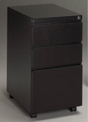 Stationary File Cabinet in Black - Mayline Office Furniture - P173BLK