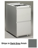 Stationary File Cabinet in Dark Gray - Mayline Office Furniture - P172GV5