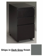 Stationary File Cabinet in Dark Gray - Mayline Office Furniture - P173GV5