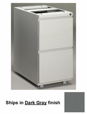 Stationary File Cabinet in Dark Gray - Mayline Office Furniture - P242GV5