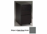 Stationary File Cabinet in Dark Gray - Mayline Office Furniture - P243GV5