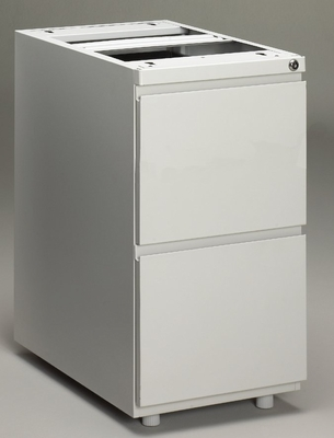 Stationary File Cabinet in Light Gray - Mayline Office Furniture - P242GV1