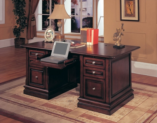 Sterling Double Pedestal Executive Desk - Parker House - STE-480-3