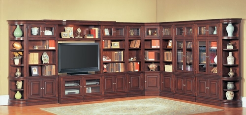 Sterling Library Entertainment Wall Unit 2 - Parker House - STE-SET-9