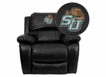 Stetson University Hatters Embroidered Black Leather Rocker Recliner  - MEN-DA3439-91-BK-41075-A-EMB-GG