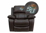 Stetson University Hatters Leather Rocker Recliner - MEN-DA3439-91-BRN-41075-A-EMB-GG