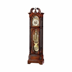 Stewart Grandfather Clock in Windsor Cherry - Howard Miller