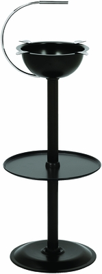 Stinky Cigar Floor Standing Ashtray - Jet Black - CA-ST-FL-BLK�����������������������
