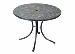 Stone Harbor Outdoor Dining Table in Black / Slate - Home Styles - 5601-30