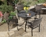 Stone Harbor Outdoor Table and 4 Newport Arm Chairs - Home Styles - 5601-3081