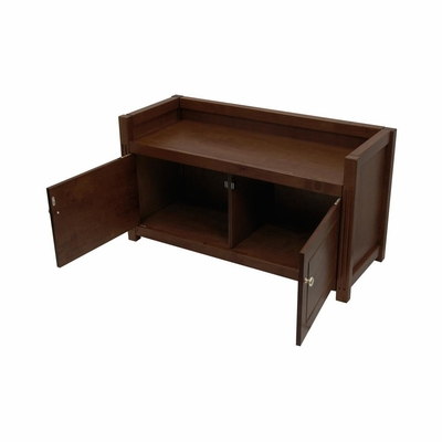 Storage Bench in Antique Walnut - Winsome Trading - 94040