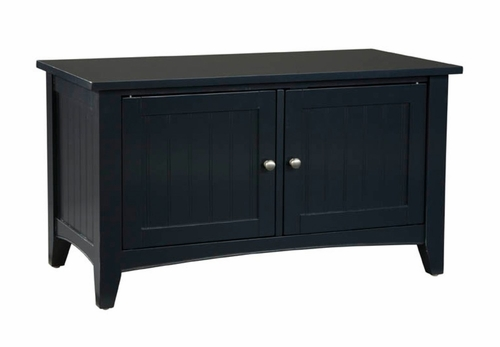 Storage Bench in Black - Shaker Cottage - Alaterre - ASCA05BL