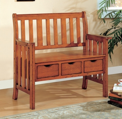 Storage Bench in Brown Cherry - Coaster - 300075
