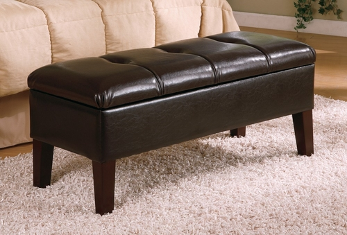Storage Bench in Deep Brown - Coaster - 300358