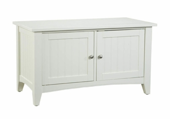Storage Bench in Ivory - Shaker Cottage - Alaterre - ASCA05IV