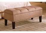 Storage Bench in Tan / Brown - Coaster - 300348