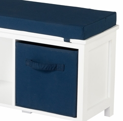 Storage Bench with Cushion and Storage Bins - 2031