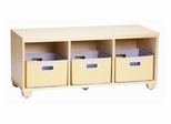 Storage Bench with Purple Storage Baskets in Natural - Links - Alaterre - AB31012PUR