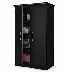 Storage Cabinet in Pure Black - Morgan - South Shore Furniture - 7270970
