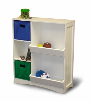 Storage Cabinet with 3 Shelves in White - RiverRidge - 02-020