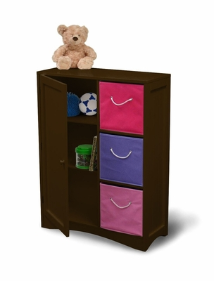 Storage Cabinet with Door / Shelf in Espresso Brown - RiverRidge - 02-025