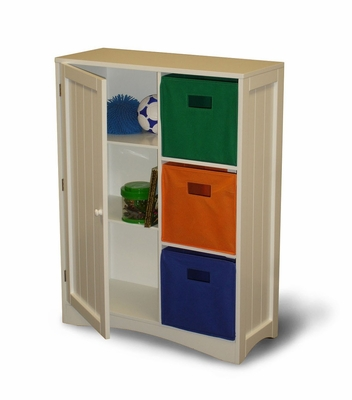 Storage Cabinet with Door / Shelf in White - RiverRidge - 02-019