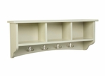 Storage Cubbie Shelf with Hooks in Sand - Shaker Cottage - Alaterre - ASCA04SA