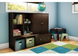 Storage Furniture Set 1 in Chocolate - Stor it - South Shore Furniture - 5059-SET-1