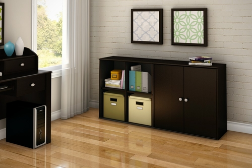 Storage Furniture Set 3 in Chocolate - Stor it - South Shore Furniture - 5059-SET-3