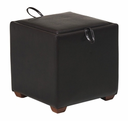 Storage Ottoman with Tray in Dark Brown - Office Star - MET817