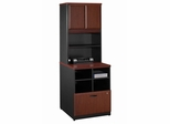 Storage Unit and Hutch Set - Series A Hansen Cherry Collection - Bush Office Furniture - WC94423-25
