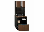 Storage Unit and Hutch Set - Series A Walnut Collection - Bush Office Furniture - WC25523-25
