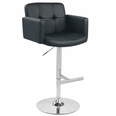 Stout Barstool Black - LumiSource - BS-TW-STOUT-BK