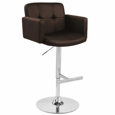 Stout Barstool Brown - LumiSource - BS-TW-STOUT-BN