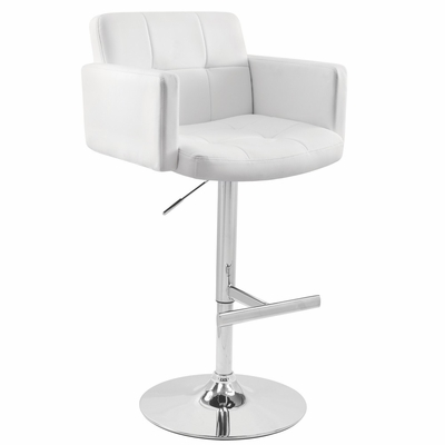 Stout Barstool White - LumiSource - BS-TW-STOUT-W