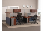 Straight and U-Workstation Set 1 - Office-in-an-Hour Collection - Bush Office Furniture - OIAH-SET-7
