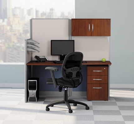 Straight Workstation Set 1 - Office-in-an-Hour Collection - Bush Office Furniture - OIAH-SET-1