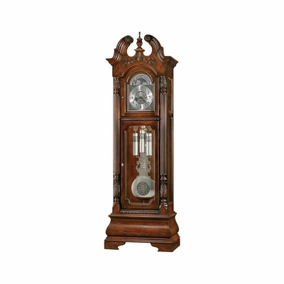 Stratford Grandfather Clock in Hampton Cherry - Howard Miller